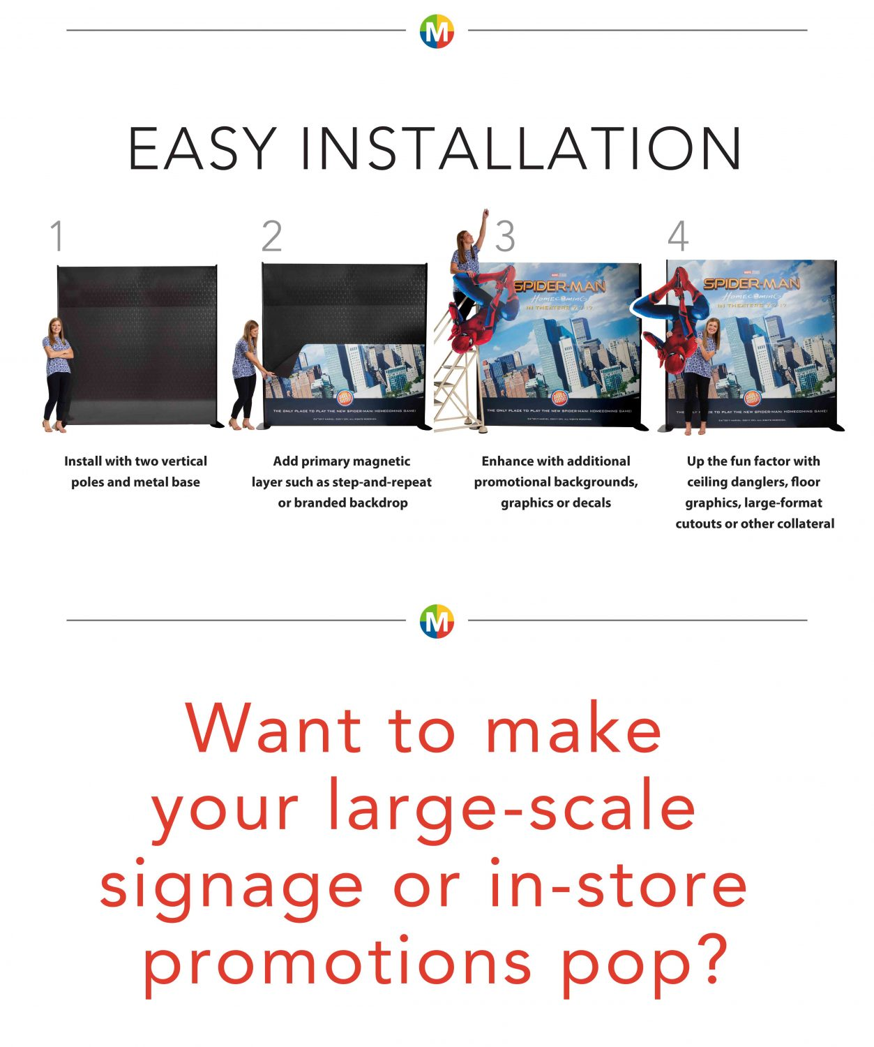 Magnetic Sign Easy Installation