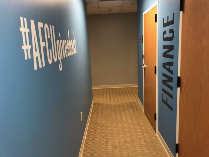 wall clings, door clings, custom interior graphics, custom wall graphics, custom graphics, wall graphics, door graphics, interior graphics