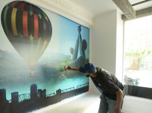 Wall wraps, wall murals, custom wallpaper, wide format