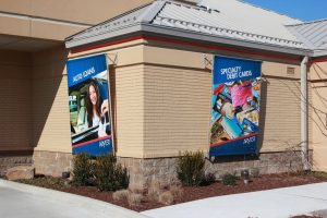 banners, exterior signage, large format printing