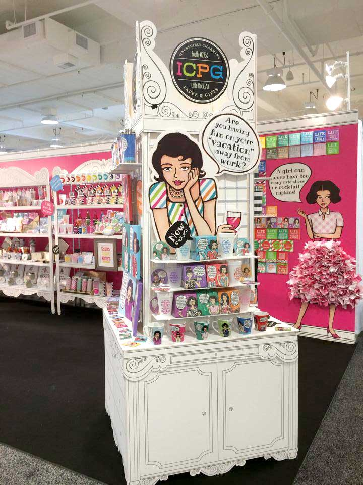 foam core, custom shelving, unique display, cost-effective, trade show booth