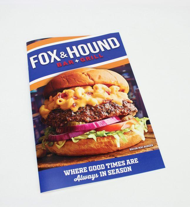 Fox and Hound restaurant menu
